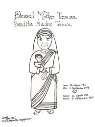 download mother teresa coloring page ziho coloring