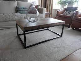 Table Acier Bois Industriel by Industrielle Table Basse Bois Acier Pure Wood Design