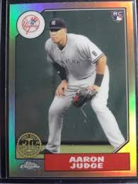 18 Best Aaron Judge Collectibles Images On Pinterest New York - 2017 topps 1987 topps baseball 87 58 aaron judge front b 2017