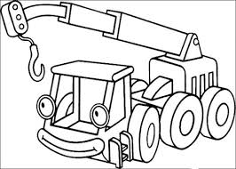 smiling lofty lifting crane coloring page free printable