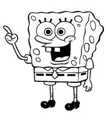 sponge bob square pants looking silly on this coloring page click