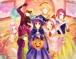 halloween background ponies mlp halloween