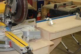 fine woodworking miter saw station redneck diy