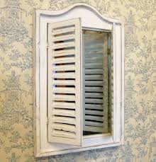 Jackson Kitchen Cabinet Bowley U0026 Jackson Vintage Traditional Shabby Chic Shutter Mirror