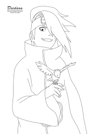 deidara coloring pages deidara 6 coloring page quote for every needs