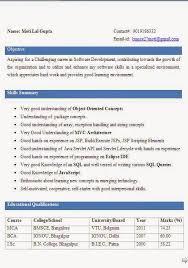 bca resume format for freshers pdf download resume format for freshers bca mca fresher resume sle 1 career