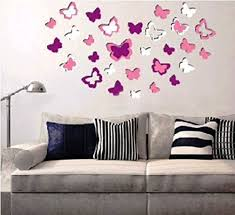 Butterfly Office Decor Buy Sunboy Butterfly Shaped 3d Easy To Peel Self Adhesive Wall