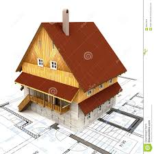real estate isolated building house with layout plan royalty free