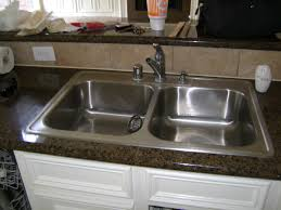 how to replace your kitchen faucet inset sink install kitchen sink drain how to and