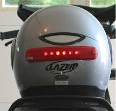 Motorcycle Helmet Lights Riderlight Wireless Led Motorcycle Helmet Brake Light Webbikeworld