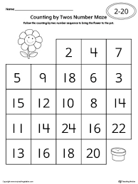 counting by twos number maze worksheet maze worksheets and numbers