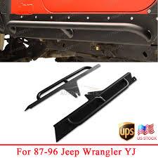 nerf gun jeep 87 96 jeep wrangler yj side step armor textured black nerf bars