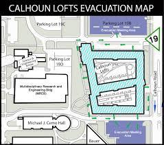 Stadium Lofts Floor Plans by Evacuation Plan University Of Houston