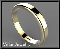 thin gold wedding band thin yellow gold wedding band vidar jewelry unique custom