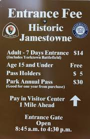 fees passes historic jamestowne part of colonial national