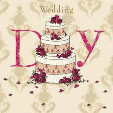 Wedding Day Greetings Wedding Day Greeting Card Cake