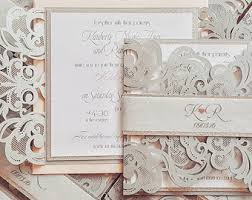 wedding invitations laser cut laser cut wedding invitations customized with ribbon and