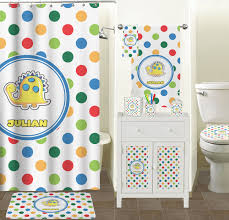 Bathroom Accessory Sets With Shower Curtain by Dots U0026 Dinosaur Bathroom Accessories Set Personalized Potty
