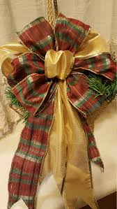 large gift bows christmas bow tree topper bow wreath bow large gift bow plaid