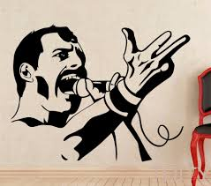 popular sticker art studio buy cheap sticker art studio lots from freddie mercury wall decal rock music queen vinyl sticker retro art decor bar studio club restaurant