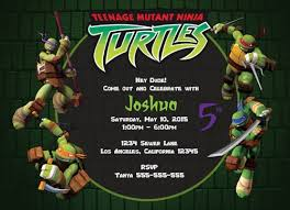 birthday invitations tmnt free templates saflly free printable
