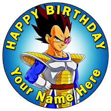 z cake toppers z vegeta 7 5 personalised edible icing