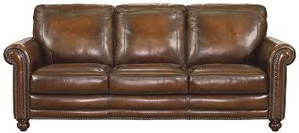 Leather Sofa With Pillows bassett hamilton traditional sofa with nail head trim great