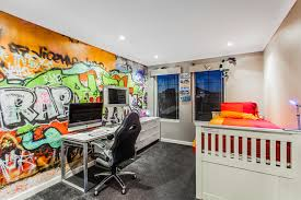 gaming bedroom design kids contemporary with recessed lighting