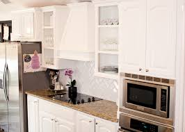 benjamin moore simply white kitchen cabinets herringbone subway tiles transitional kitchen benjamin moore