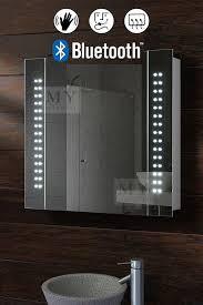 bluetooth bathroom mirror galactic illuminated led bluetooth bathroom mirror cabinet my