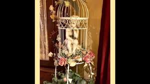 diy how to shabby chic a bird cage youtube