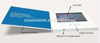 digital play gift card marketing brochure lcd player business gift card digital