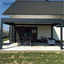china motorized aluminum patio roof systems with rainproof pergola