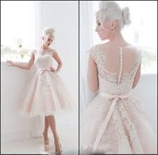 blush tea length wedding dresses dress images