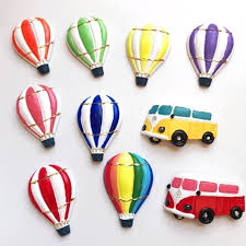 12pcs lot rural style retro resin coach air balloon