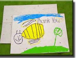 kids thank you cards handmade note cards printed and real flower