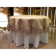 tablecloth ideas for round table tablecloth 60 round burlap with 5 inch fringe within tablecloths
