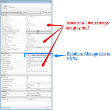 revit tutorial view range why are the settings in the view properties all grey out learning