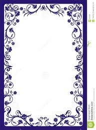 Decorative frame vector stock vector Illustration of floral