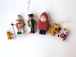 vintage wooden ornaments spark