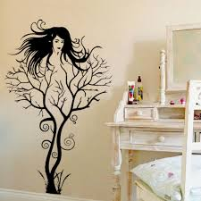compare prices on salon decoration online shopping buy low price creative sexy girl tree gril vinyl wall decal removable home decor bedroom mural art sticker clothes