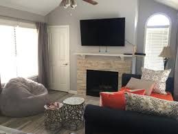 furnished 1 bed 1 bath condo with open floor plan u0026 vaulted