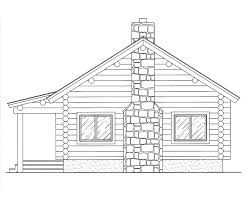 Log House Floor Plans Log Home Floor Plan Trapper