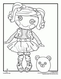 lalaloopsy doll coloring pages woo jr kids activities
