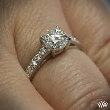 palladium engagement rings rounded open cathedral diamond engagement ring 575