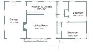 2 bedroom floor plans with dimensions