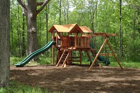 Playsets Outdoor Middlebury Fence Woodplay Playsets Swingsets In Vermont