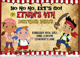 jake land pirates party games invitations