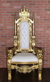 Throne Style Chair 2018 Model Absolom Roche Lion Throne Chair Gold White