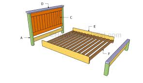 Farmhouse Bed Frame Plans Farmhouse Bed Plans Howtospecialist How To Build Step By Step